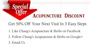 Acupuncture Discount
