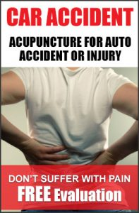 acupuncture for auto accident or injury